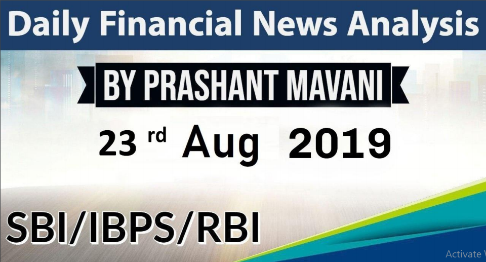 Saily Finaencial news 23nd August 2019